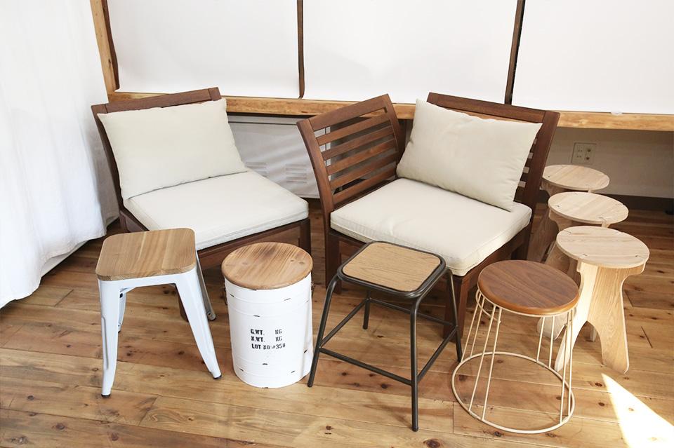 椅子の種類は指定できません
